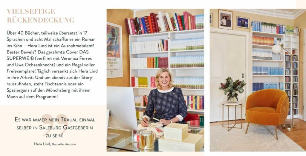 Hera Lind CI Infos Arbeitszimmer Bücher