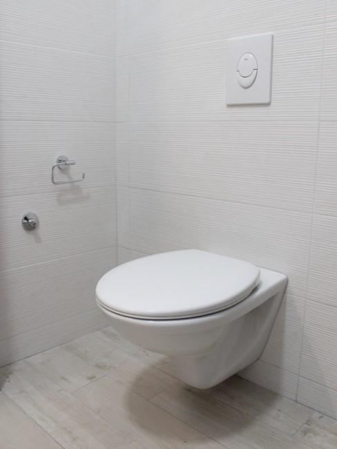 Toilette reinigen weißes Badezimmer