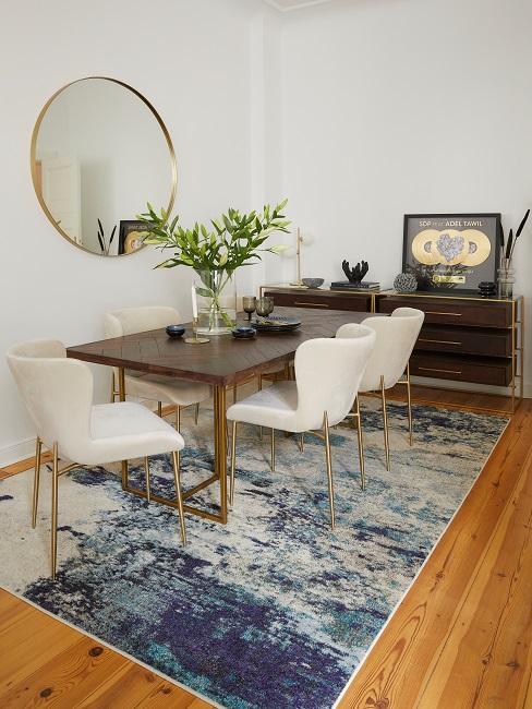 Nico Santos Esstisch Wohnzimmer Holz Teppich