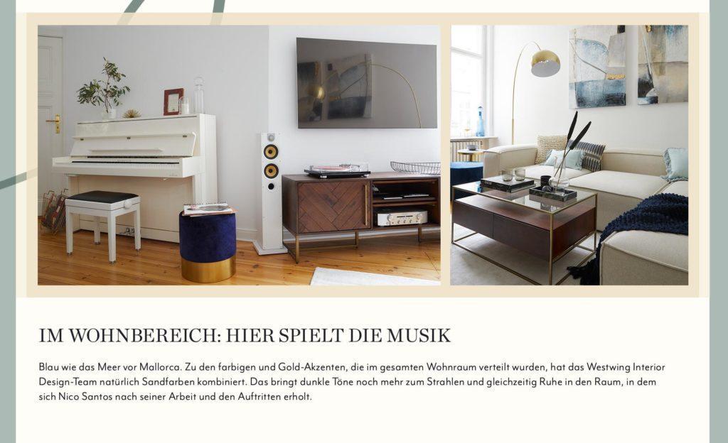 Nico Santos CI Wohnzimmer Klavier Farben