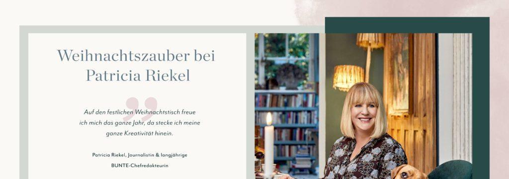 Patricia Riekel CI Weihnachtszauber Tischdeko Brunch
