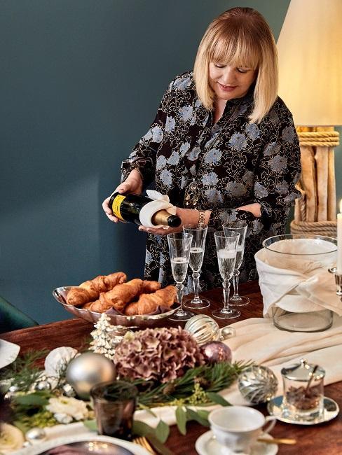 Patricia Riekel Weihnachtsbrunch Glaeser Champagner