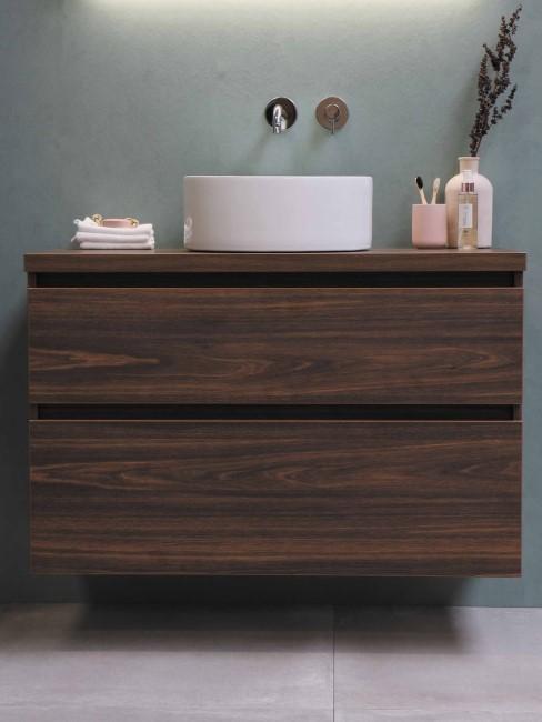 Badezimmer Holz Waschschrank
