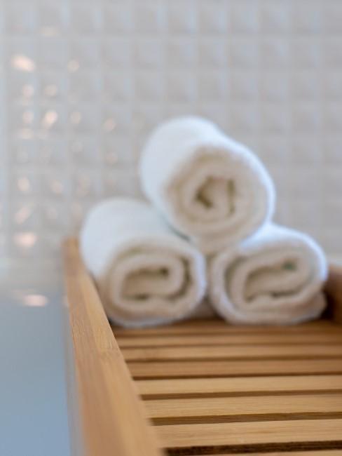 Badewannenablage aus Holz