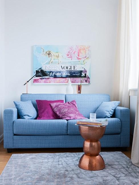 Kupfer Deko Beistelltisch Sofa Wohnzimmer