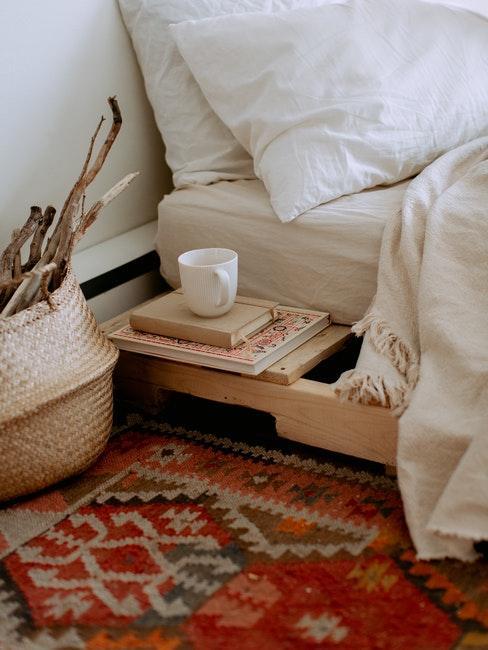 Boho Look im Schlafzimmer mit Holz