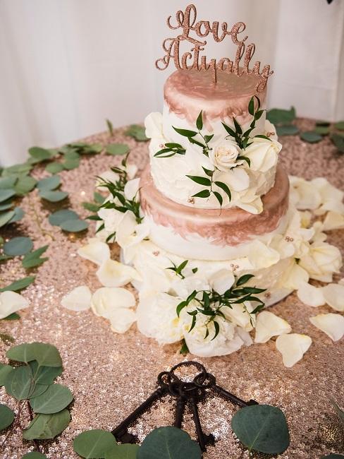 Rosegoldene Torte