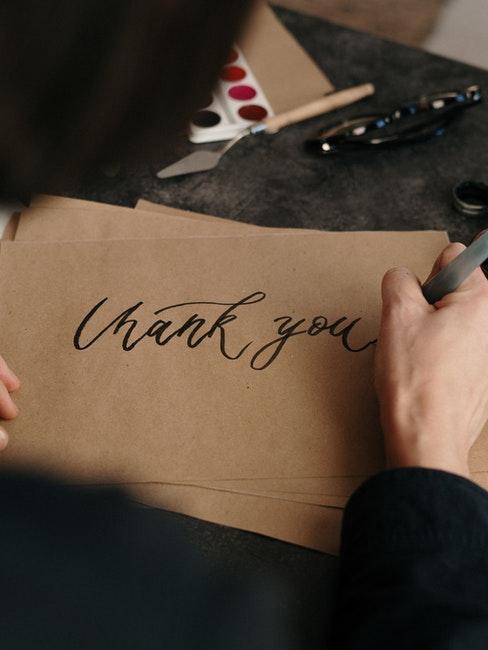 Handgeschriebener Brief mit Handlettering