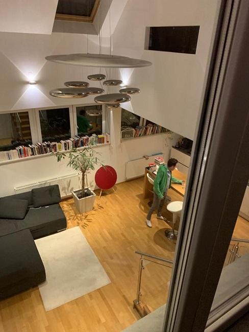 Wohnzimmer mit offener Kueche einrichten Vorher