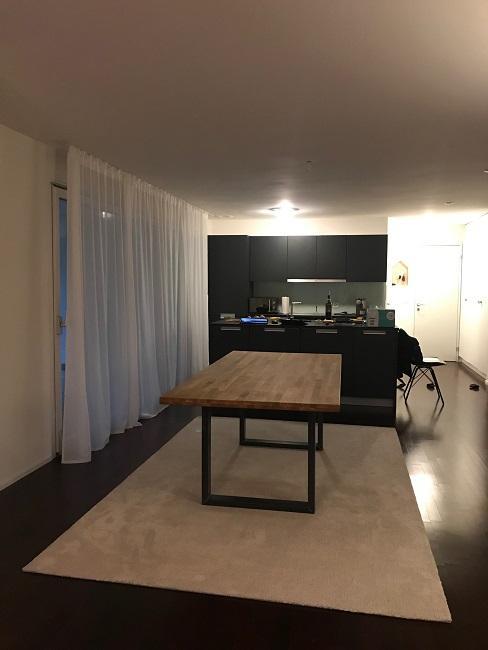 neue Wohnung einrichten vorher Essbereich Esstisch