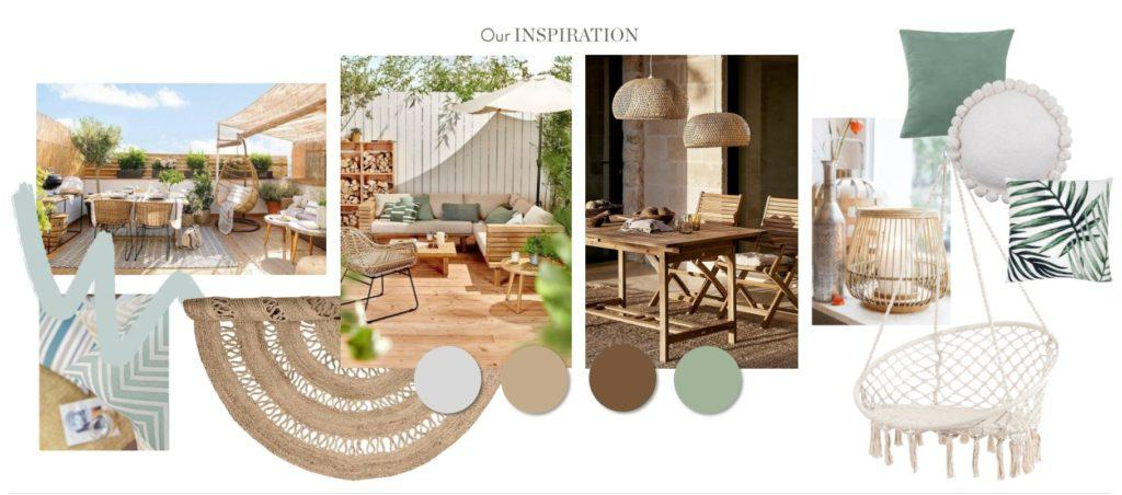 Neue Wohnung einrichten Terrasse Inspiration Moodboard
