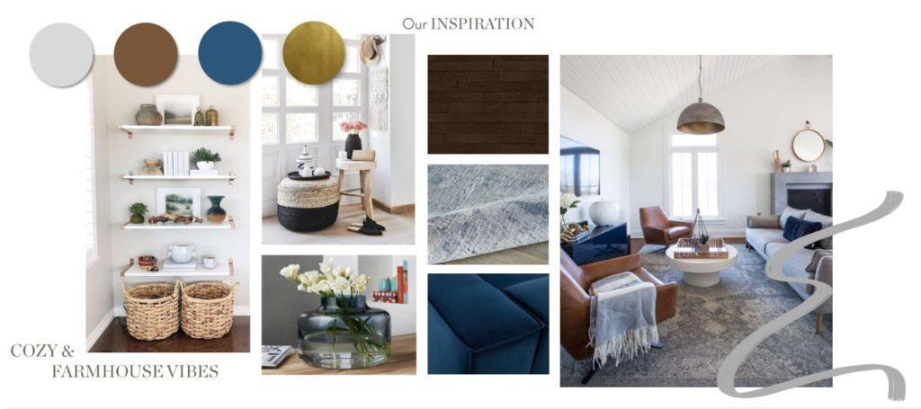 neue Wohnung einrichten Inspiration Moodboard Wohnbereich