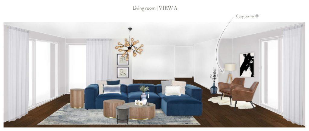 Neue Wohnung einrichten Wohnzimmer Entwurf