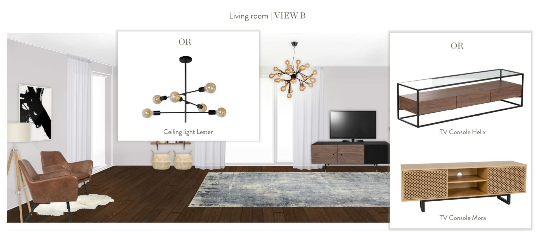 Neue Wohnung einrichten Wohnzimmer Entwurf andere Zimmerseite