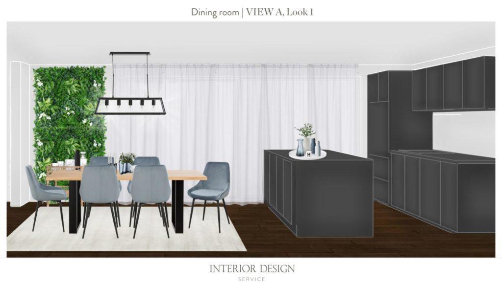 Neue Wohnung einrichten Essbereich Entwurf 1