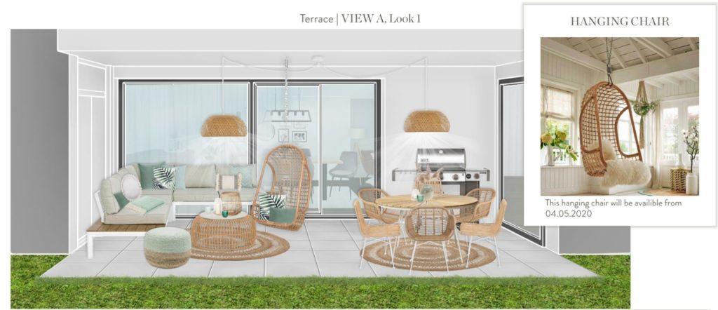 Neue Wohnung einrichten Terrasse Entwurf 1