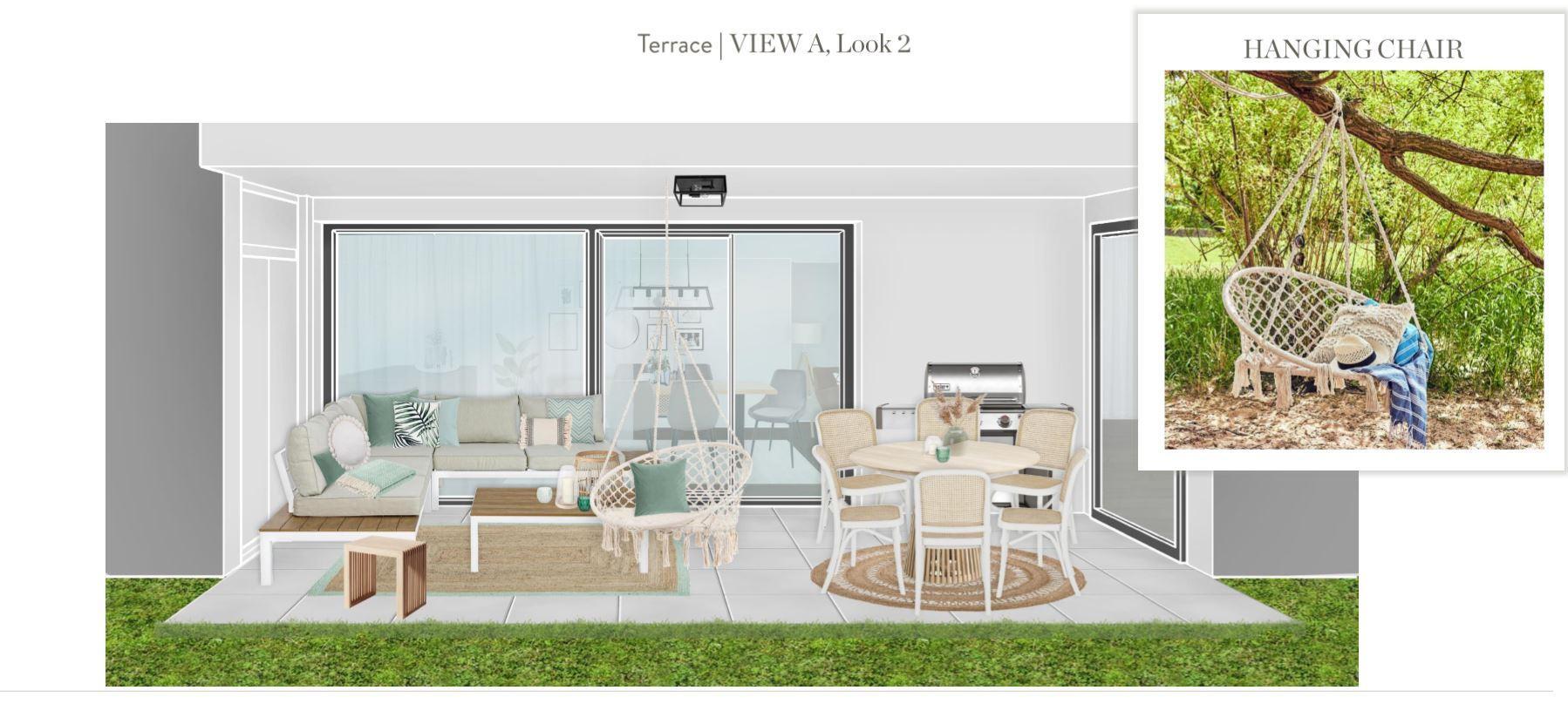 Neue Wohnung einrichten Terrasse Entwurf 2