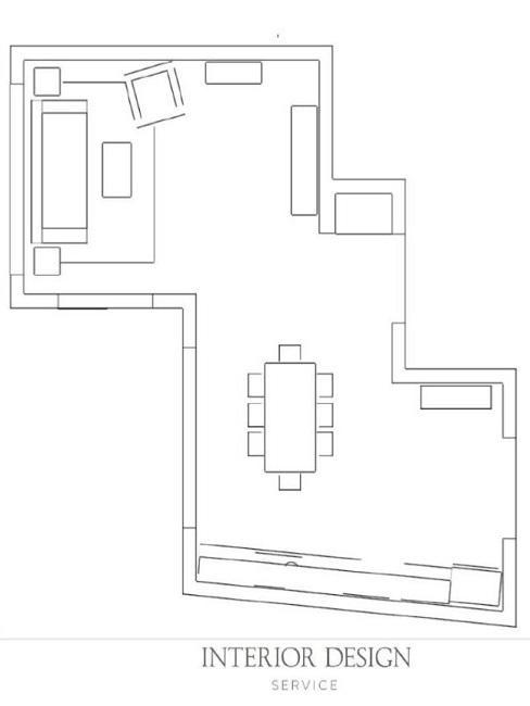 Nische gestalten Grundriss Wohnzimmer