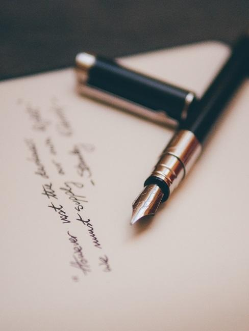Füller mit Brief