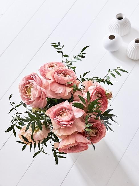 Blumenstrauß von oben