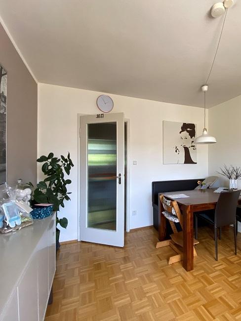 Kleines Wohnzimmer mit Essbereich einrichten Vorher