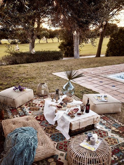 Bodenkissen für den Outdoor Bereich