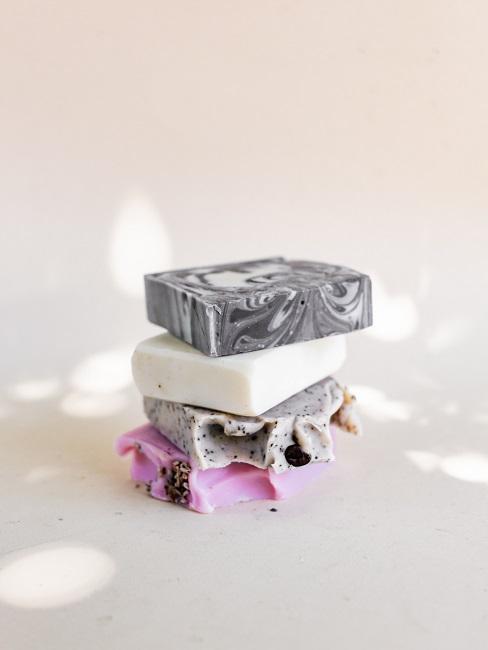 DIY Seife selber machen verschiedene Farben