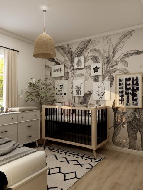 Wandbild mit Tieren im Kinderzimmer