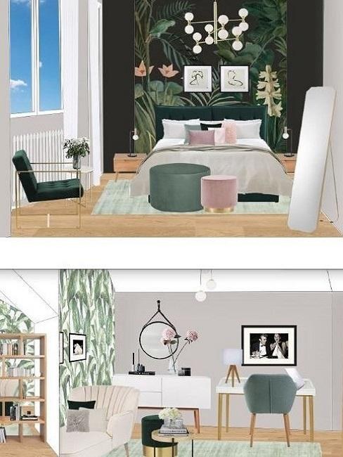 das Büro Zuhause einrichten und ein schmales Gästezimmer einrichten