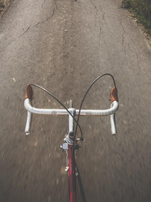 Lenker eines Vintage Rennrads