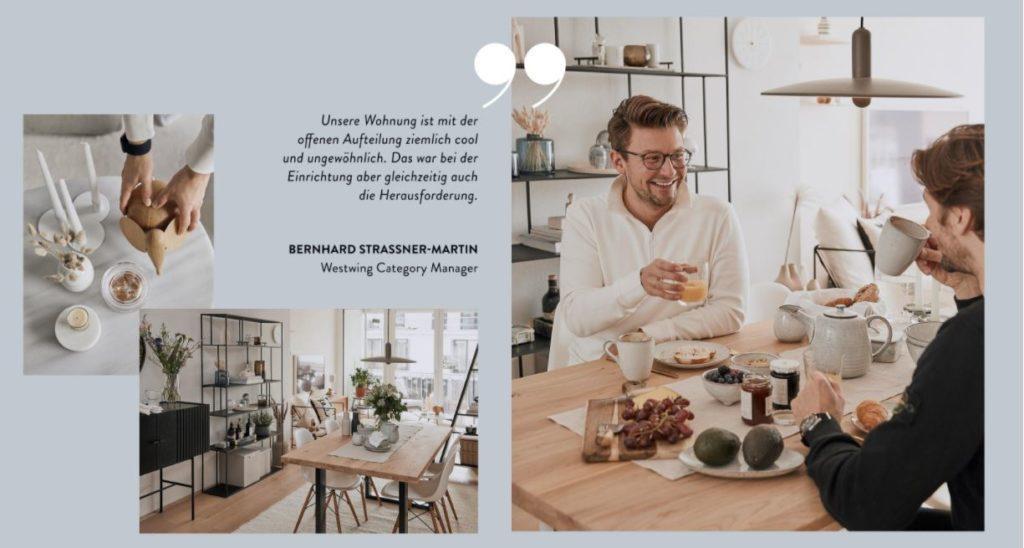 Männerwohnung offene Aufteilung Herausforderung Wohnzimmer Möbel