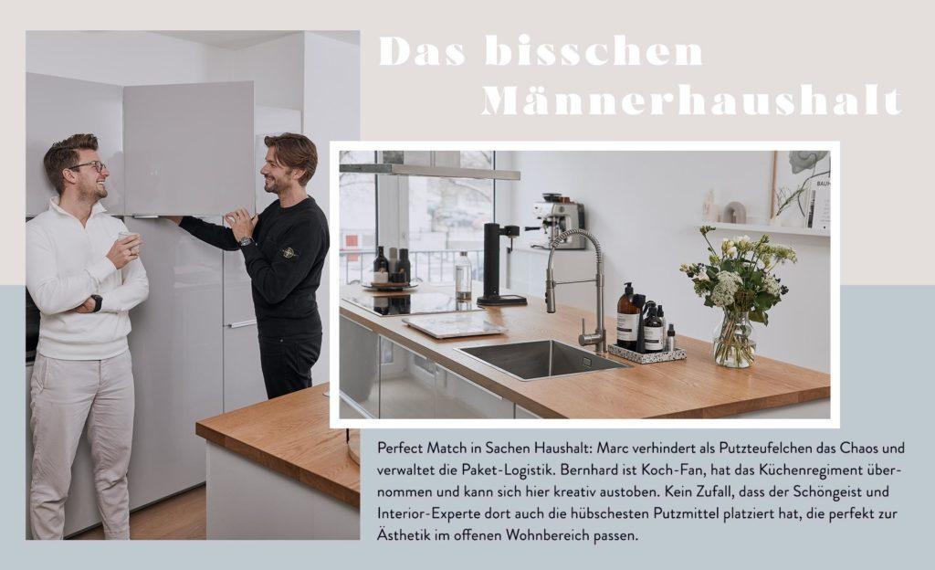Männerwohnung Haushalt Küche Putzmittel