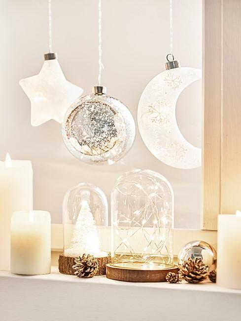 Winterliche Windlichter basteln für Weihnachten