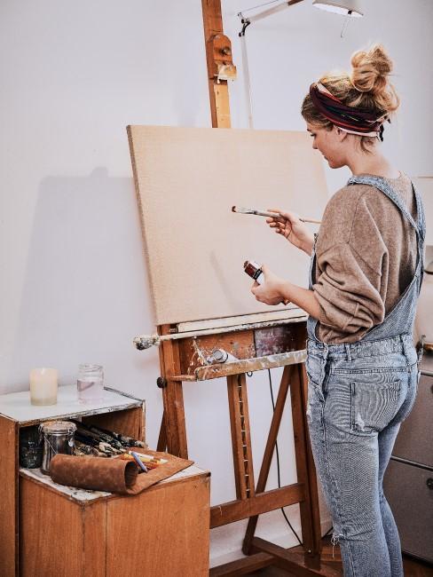 Kreatives Hobby finden durch Malen