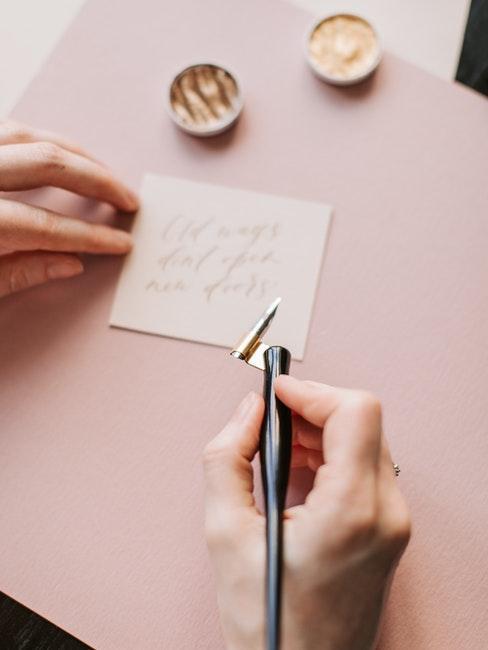 Kalligraphie ausprobieren beim Hobby finden