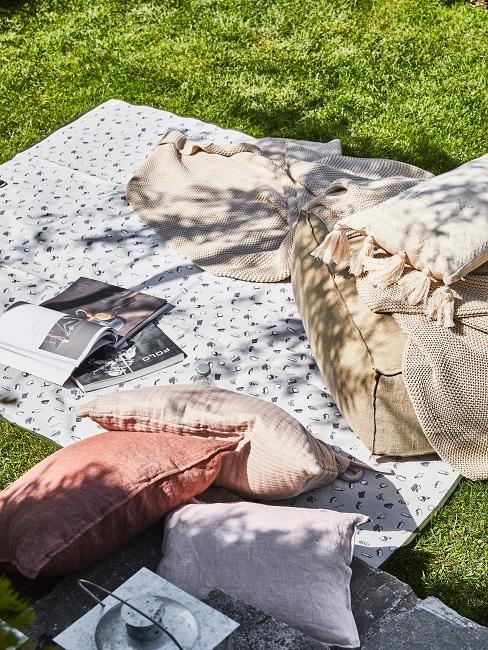 Picknick Decke und Kissen