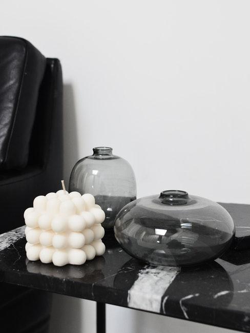 Bubble Kerze selber machen in Weiß
