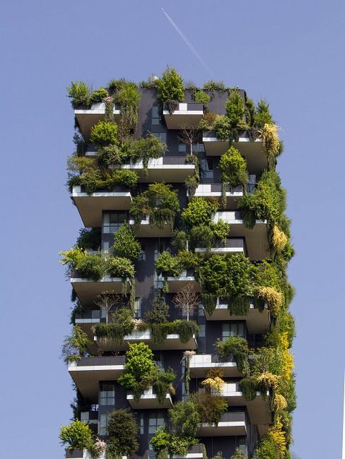 Nachhaltiges Bauen Haus mit Pflanzen