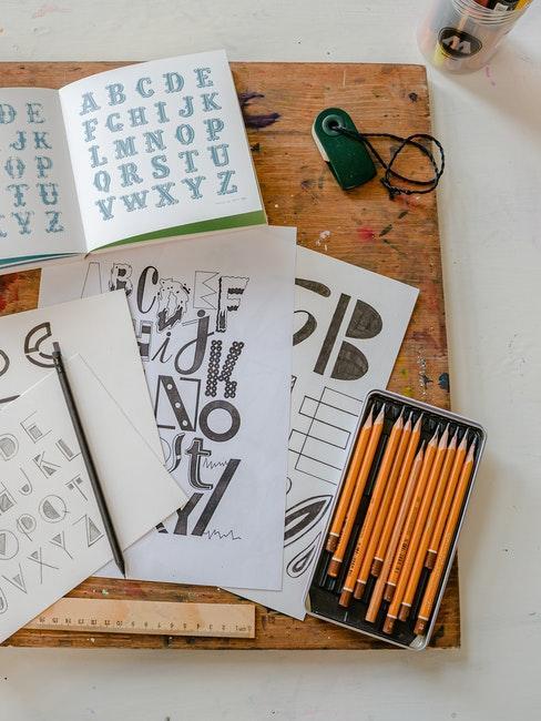 Hand Lettering ABC lernen und üben