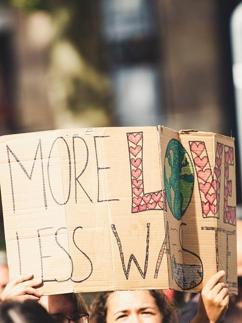 Nachhaltige Tipps weniger Müll Schild