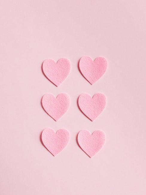 Herzchen in rosa