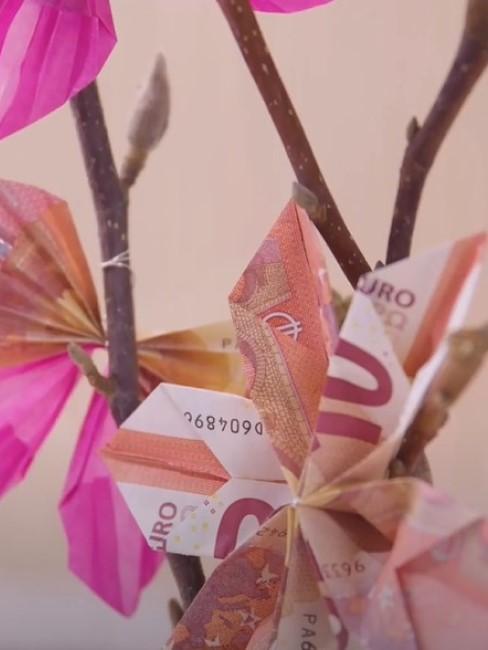 Hochzeitsgeschenk Geld Verpackung selbst basteln