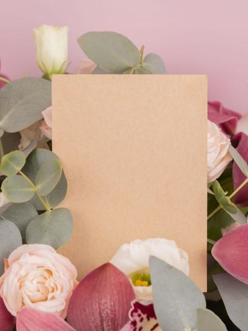 Kuvert für das Hochzeitsgeschenk Geld mit Blumen