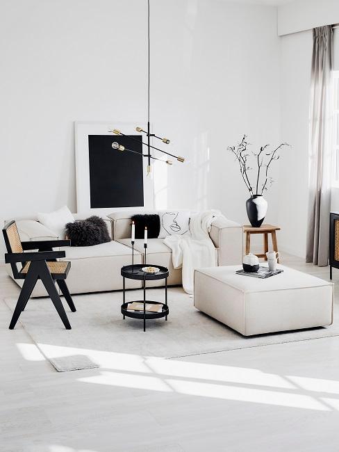 Wohnzimmer weiß-schwarz mit Wohnzimmermöbel