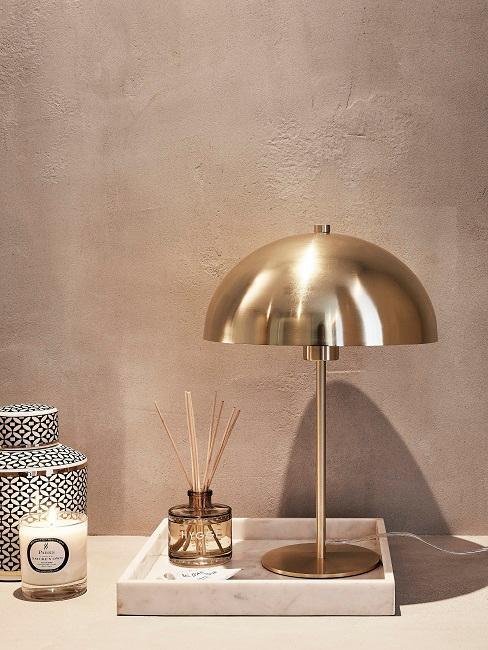 Designer-Pilzlampe in Gold