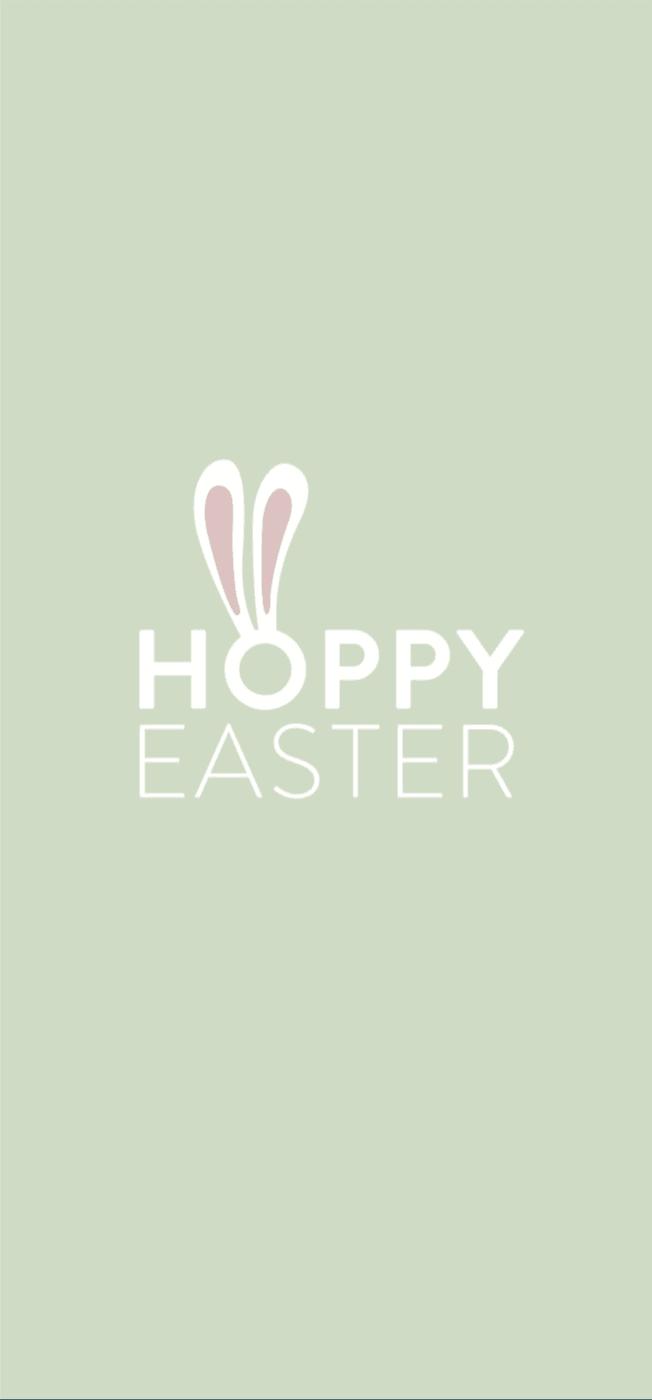 Hintergrundbild mit Ostermotiv Happy Easter