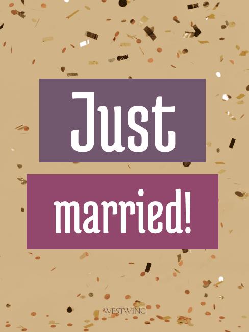 Grafik Just married