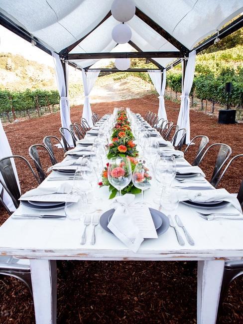 Tisch mit vielen Plätzen