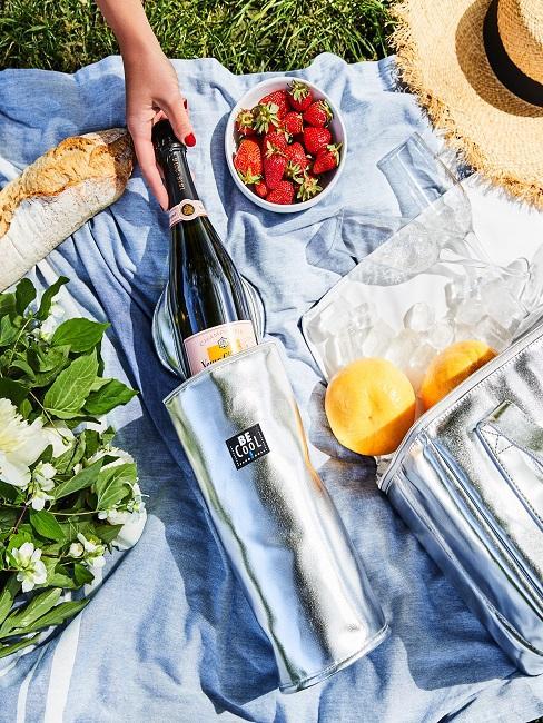 Picknicktaschen für Sekt und Essen