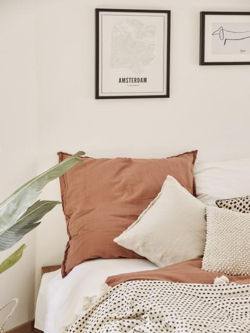 Bettwäsche in Terrakotta